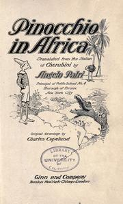 Cover of: Pinocchio in Africa by