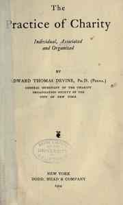 Cover of: The practice of charity