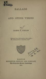 Cover of: Ballads and other verses