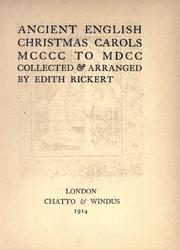 Cover of: Ancient English Christmas carols MCCCC to MDCC
