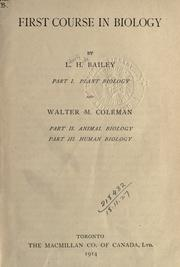 Cover of: First course in biology