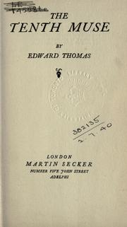 Cover of: The tenth muse