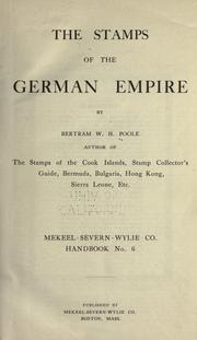 Cover of: The stamps of the German empire