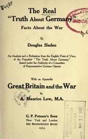 "Cover of: The real ""truth about Germany"": facts about the War"