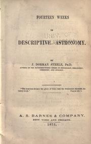 Cover of: Fourteen weeks in descriptive astronomy