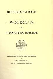 Cover of: Reproductions of woodcuts by F. Sandys, 1860-1866