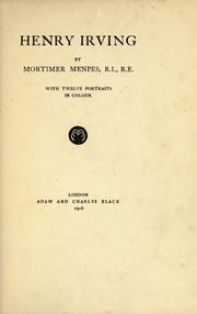 Cover of: Henry Irving
