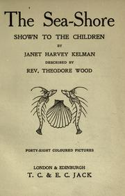Cover of: The sea-shore by Wood, Theodore