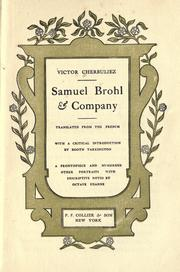 Cover of: Samuel Brohl et cie.