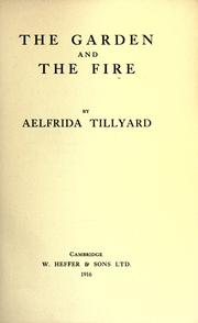 Cover of: The garden and the fire