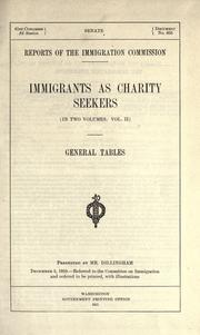 Cover of: Immigrants as charity seekers (in two volumes)