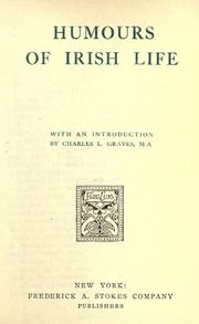 Cover of: Humours of Irish life