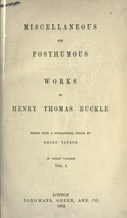 Cover of: Miscellaneous and posthumous works