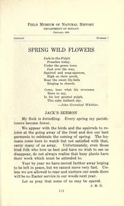 Cover of: Spring wild flowers