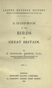 Cover of: A hand-book to the birds of Great Britain