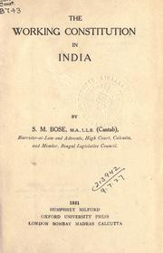Cover of: The working constitution in India