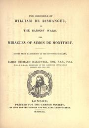 Cover of: The chronicle of William de Rishanger, of the barons' war