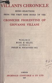 Cover of: Villani's Chronicle