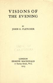 Cover of: Visions of the evening