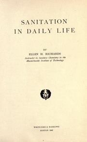 Cover of: Sanitation in daily life