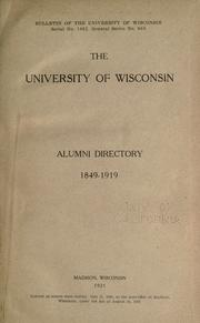 Cover of: Alumni directory, 1849-1919