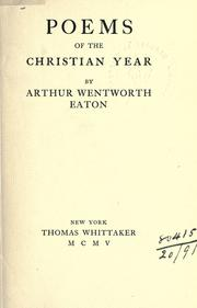 Cover of: Poems of the Christian year