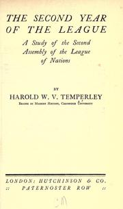 Cover of: The second year of the League