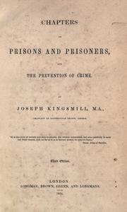 Cover of: Chapters on prisons and prisoners