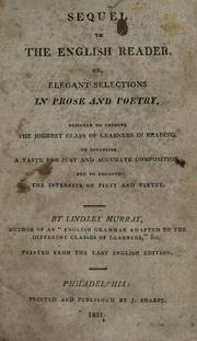 Cover of: Sequel to the English reader