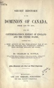 Cover of: Short history of the Dominion of Canada