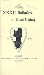 Cover of: XXXII ballades in blue china