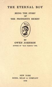 Cover of: The eternal boy by Owen Johnson