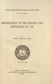 Cover of: Bibliography of the geology and mineralogy of tin