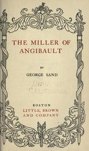 Cover of: Le meunier d'Angibault
