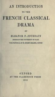 Cover of: An introduction to the French classical drama