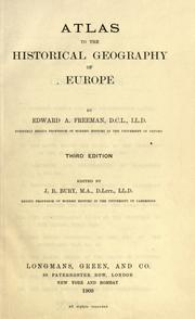 Cover of: Atlas to the historical geography of Europe