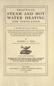 Practical steam and hot water heating and ventilation by Alfred G. King