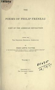 The poems of Philip Freneau, poet of the American Revolution by Philip Morin Freneau