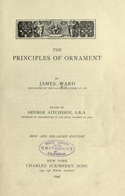 Cover of: The principles of ornament
