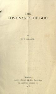 Cover of: The covenants of God