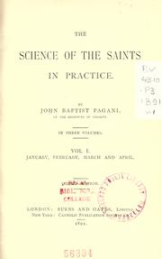 Cover of: The science of the saints in practice | Giovanni Battista Pagani