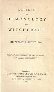 Cover of: Letters on demonology and witchcraft by Sir Walter Scott