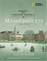 Cover of: Voices from Colonial America: Massachusetts 1620-1776: 1620 - 1776 (NG Voices from ColonialAmerica)