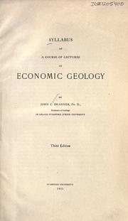 Cover of: Syllabus of a course of lectures on economic geology