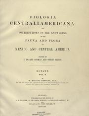 Cover of: Biologia Centrali-Americana  vol. V (Botanical Plates for vol 1-4, 1879-1888)