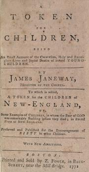 Cover of: A token for children | James Janeway