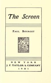 Cover of: The screen: [a novel