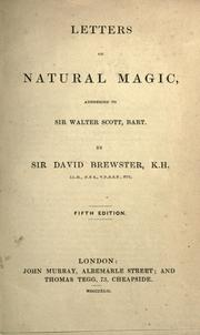 Cover of: Letters on natural magic addressed to Sir Walter Scott, bart