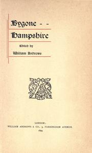 Cover of: Bygone Hampshire