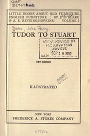 Cover of: Tudor to Stuart